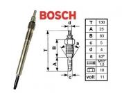 Hehkutulppa Chrysler / Jeep 2,5L / 2,8 CRD Diesel *Bosch Duraterm*