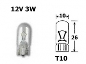 12V lasikanta polttimo  -  3W  -  T10