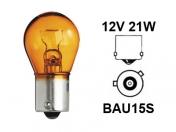 12V metallikanta polttimo Oranssi  -  21W  -  BAU15s