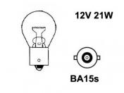 12V metallikanta polttimo  -  21W  -  BA15S  -  17421