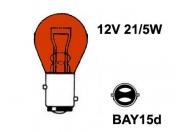 12V metallikanta polttimo Oranssi  - 21/5W-  BAY15d