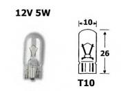 12V lasikanta polttimo  -  5W  -  T10
