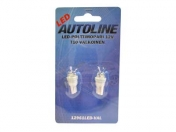 Polttimo 12V T10 LED Valkoinen *pakkauksessa 2kpl