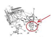 Moottorin kumityyny Cadillac 4,6L 93-02 ETU