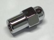 """Mutteri 1/2"""" kok. pituus 43mm, holkin pituus 19,05mm, holkin Ø 17,4mm"""