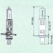 H1 12V halogen polttimo - 55W - P14,5s