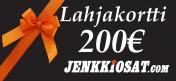 Lahjakortti, 200 euroa