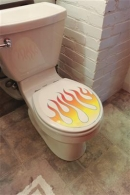 Genuine Hotrod Hardware® Flamed Toilet Tattoo