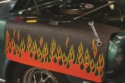 Genuine Hotrod Hardware® Black Flamed Fender Cover