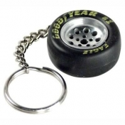 Goodyear Racing Tire and Wheel Keychain