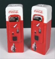 Genuine Hotrod Hardware® Coca-Cola Vending Machine Salt and Pepper Shakers