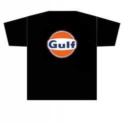 Gulf T-paita musta kaksoispainatus